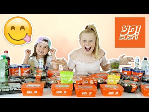 WE ORDERED ENTiRE MENU FROM YO SUSHi!! 😋🥡