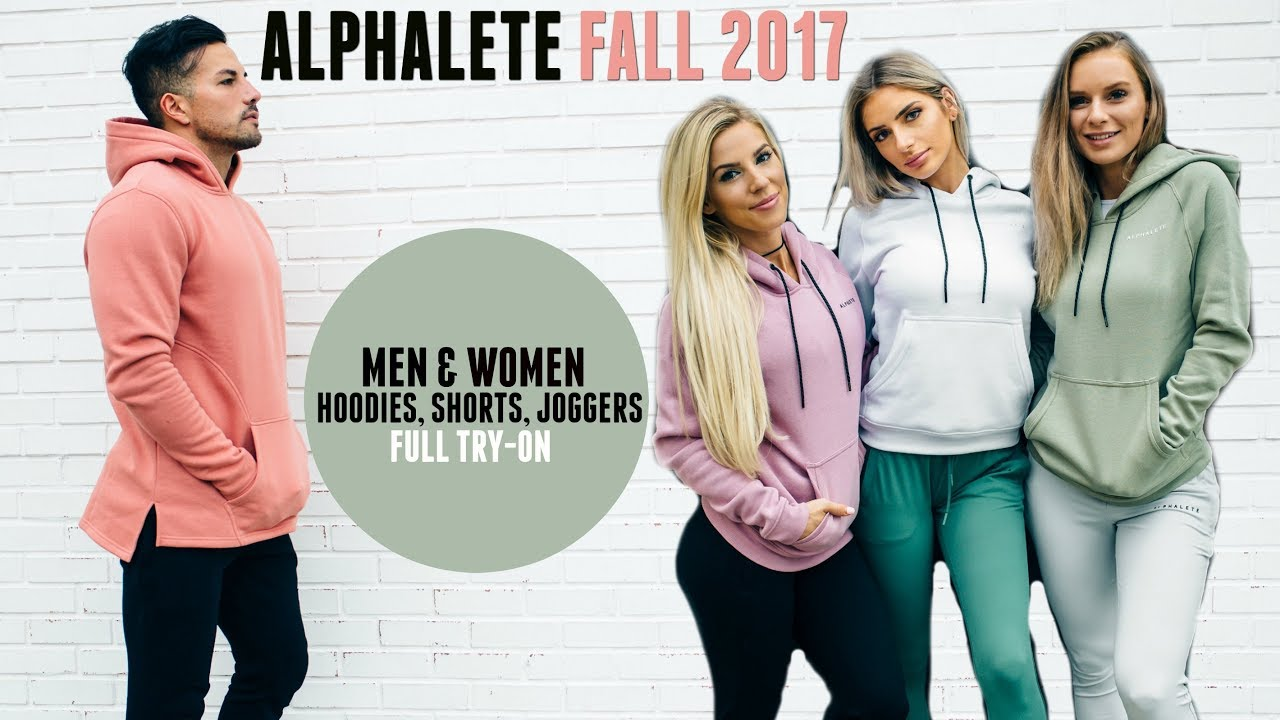c6ae71b6bc Alphalete Fall Sizing Guide | Men & Women's Hoodies, Joggers, and Shorts