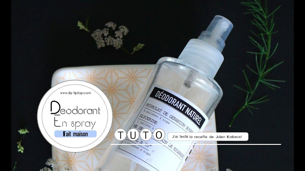 Diy Deodorant Naturel En Spray Tire De La Recette De Julien Kaibeck Createur Du Mouvement Slow Cosmetique Le Blog Et Les Ateliers Do It Tiptop