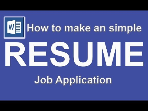 Resume/CV in Microsoft word, JOB Application interview cover letter
