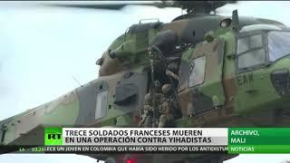 Mueren 13 militares franceses en un accidente aéreo en Mali