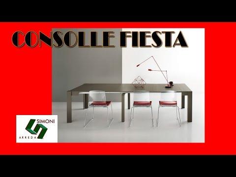 tavolo consolle allungabile fiesta 238 cm youtube