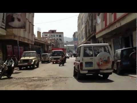 Yemen Life HD Motorcycle view Part1 اليمن - اب Ibb Streets