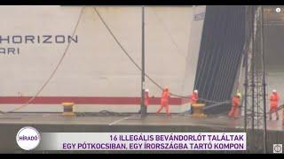 16 illegális bevándorlót találtak egy pótkocsiban egy Írországba tartó kompon