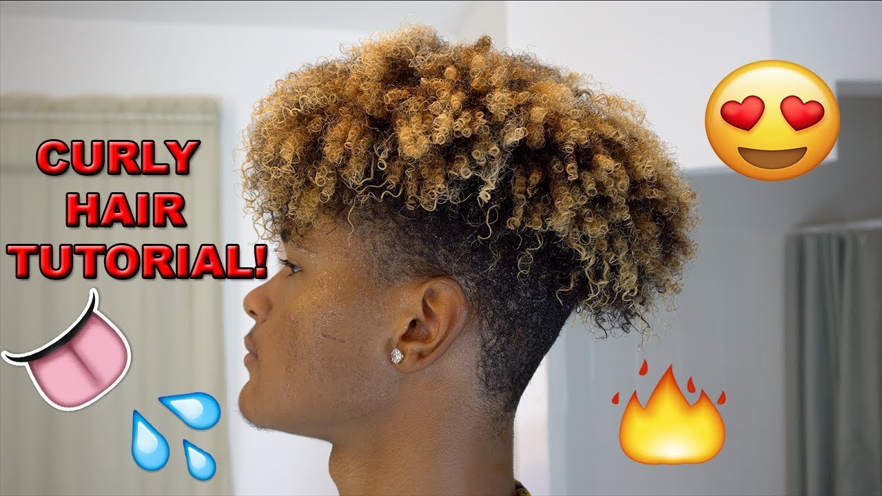 How To Get Curly Hair For Black Men Youtube