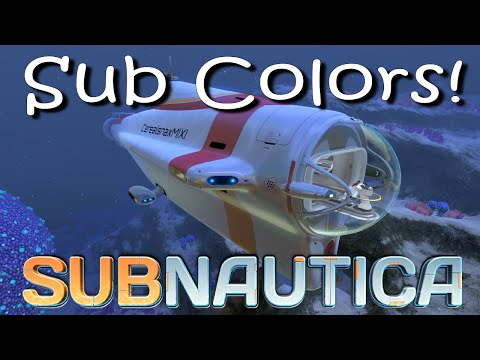 Subnautica - Cyclops Submarine Colors + Building an underground Sub Base!