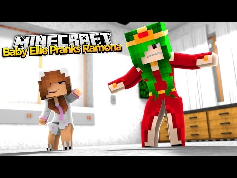 Minecraft Little Kelly : BABY ELLIE PRANKS RAMONA!