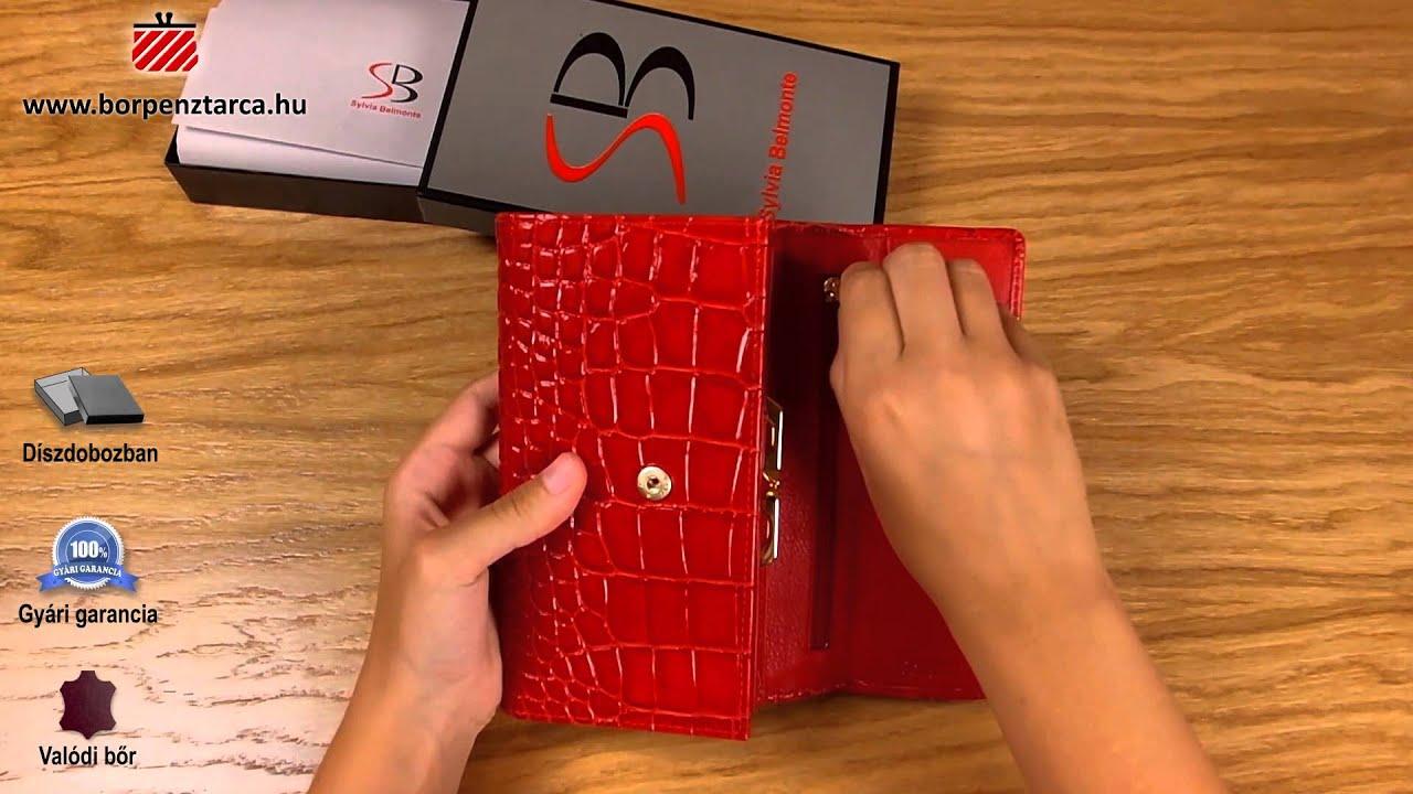 Sylvia belmonte croco bőr pénztárca CR230 bemutató videó - YouTube a8294910ac