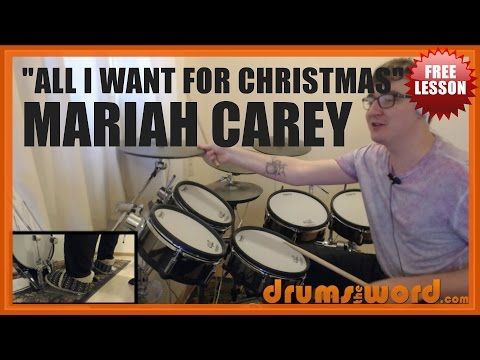 ★ All I Want For Christmas (Mariah Carey) ★ FREE Drum Lesson | How To Play FULL SONG