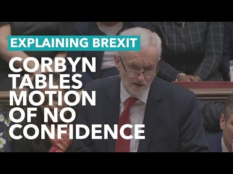 Jeremy Corbyn Tables Motion of No Confidence - Brexit Explained