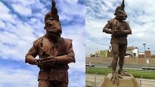 Statue of a Reptilian Humanoid in Peru