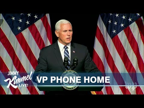 Jimmy Kimmel Proves Mike Pence is an Alien