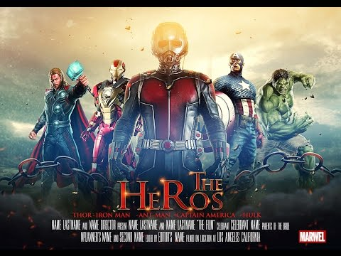 Movie Poster Design | Film Poster Manipulation | Photoshop CC Tutorial | THE HEROS