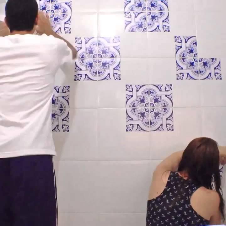 Adesivo decorativo azulejo ladrilho hidraulico youtube - Ladrillo hidraulico ...