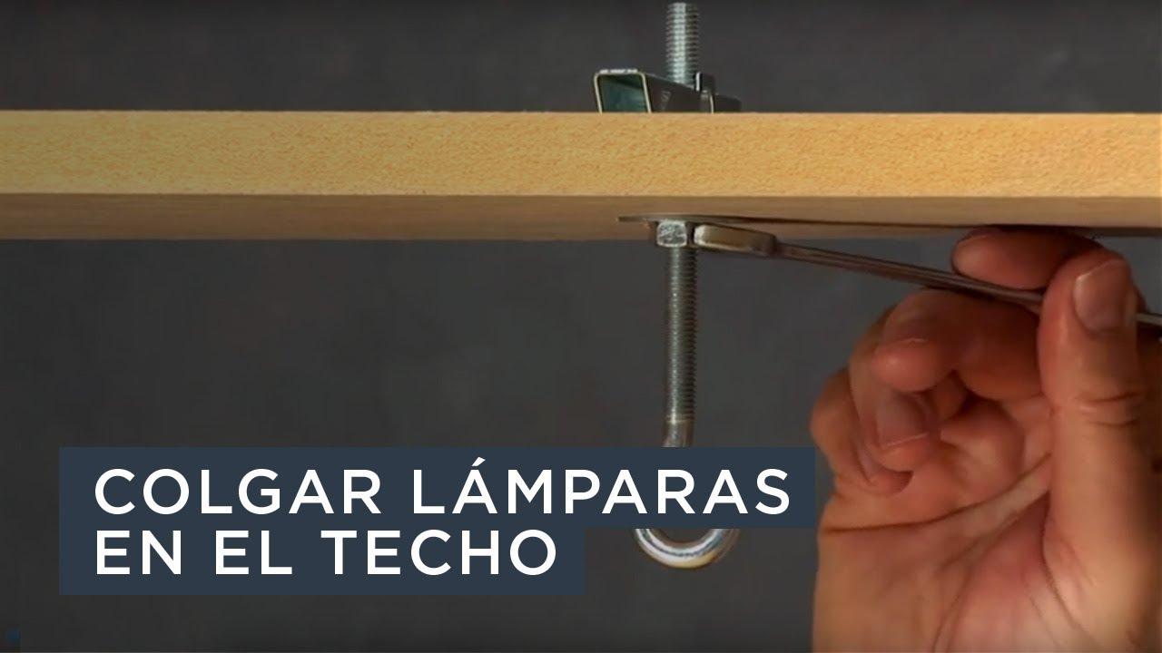 Colgar l mparas y otros objetos en el techo youtube for Como poner pladur en el techo
