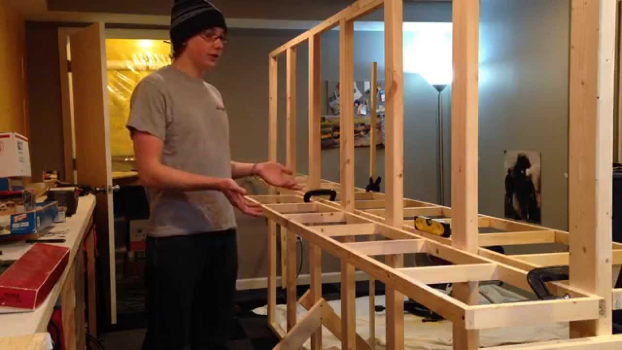 How To Build Model Railroad Benchwork Open Grid Youtube