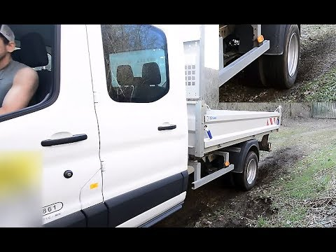 Soft spinning on gravel with a tipper truck - Ford transit dually tires