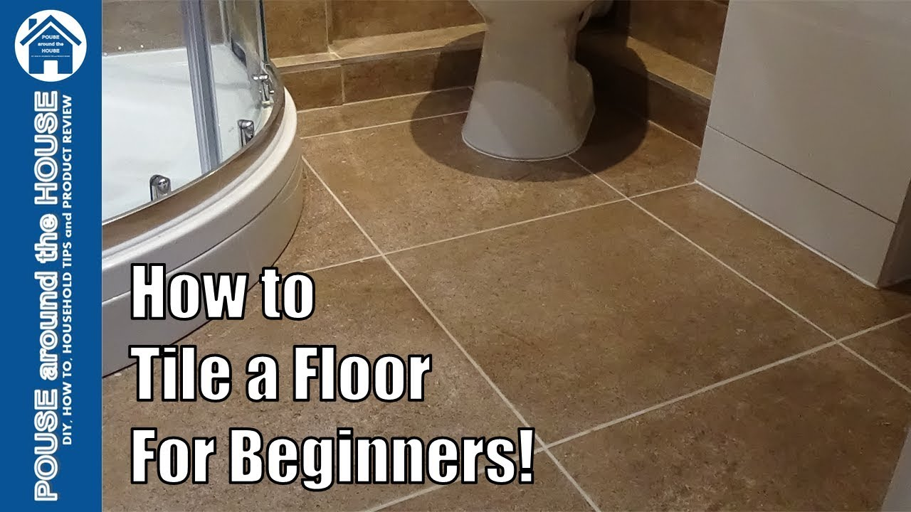 how to tile a bathroom shower floor beginners guide tiling made easy for diy enthusiasts youtube. Black Bedroom Furniture Sets. Home Design Ideas