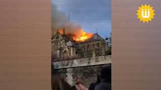 فيديو لحريق كاتدرائية نوتردام التاريخية وسط باريس