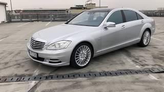 🔴 W221 S Klasse 350 CDI  L Lang Panorama Silber NACHTSICHT - ASSISTENT ab 9:10 min Mopf