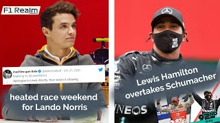 GP portugal RESULTS, Lando Norris with some Twitter banter, Lewis Hamilton's new Record