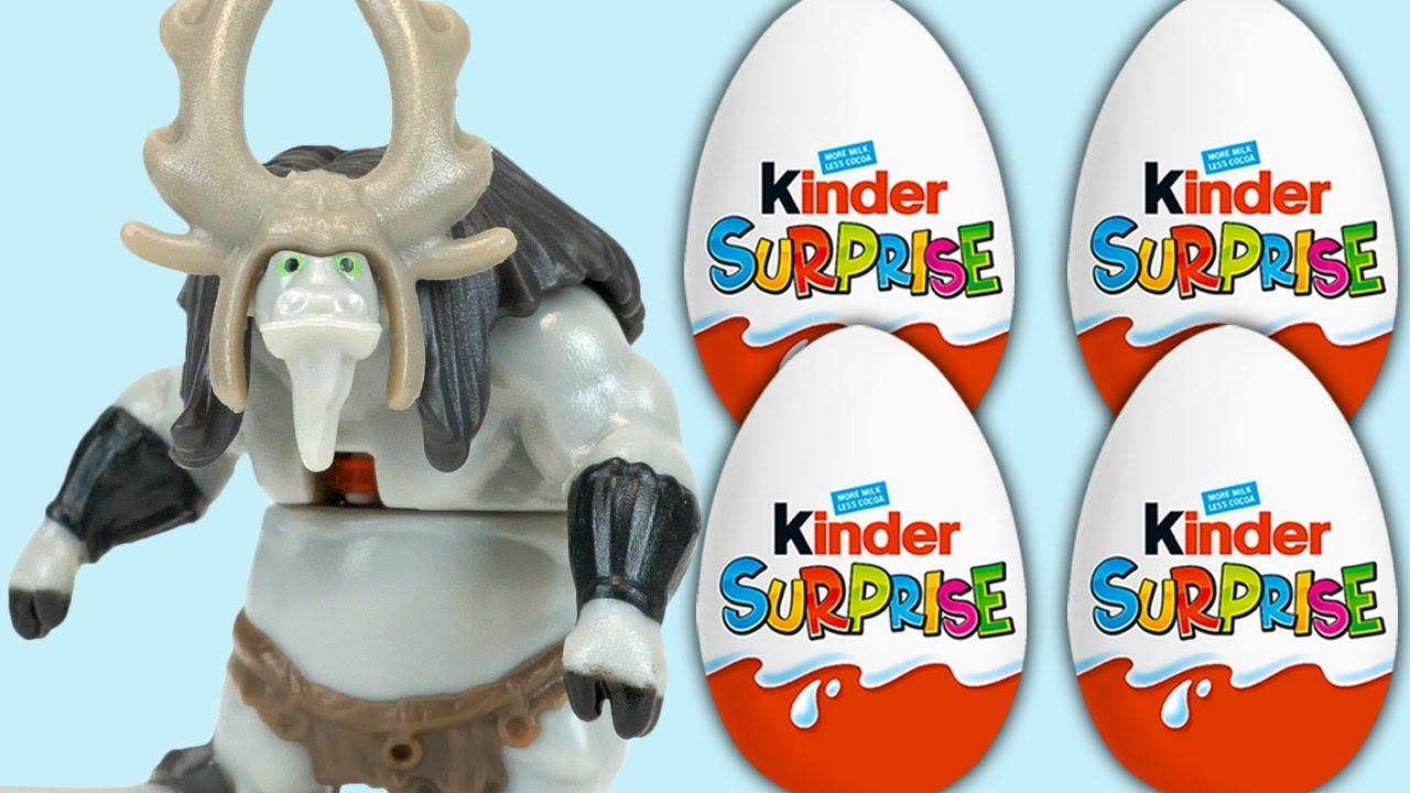 Kinder Surprise Eggs Kung Fu Panda 3 Kai Vic The Viking Manga Car Toy Youtube