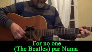 For no one (The Beatles ) acoustic guitar cover HD