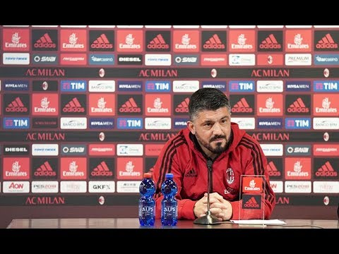 Press Conference Gattuso Pre Roma - Milan (25/02/2018)
