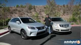 Lexus RX 350 F Sport vs Cadillac SRX Luxury Crossover SUV Comparison & Car Video Review