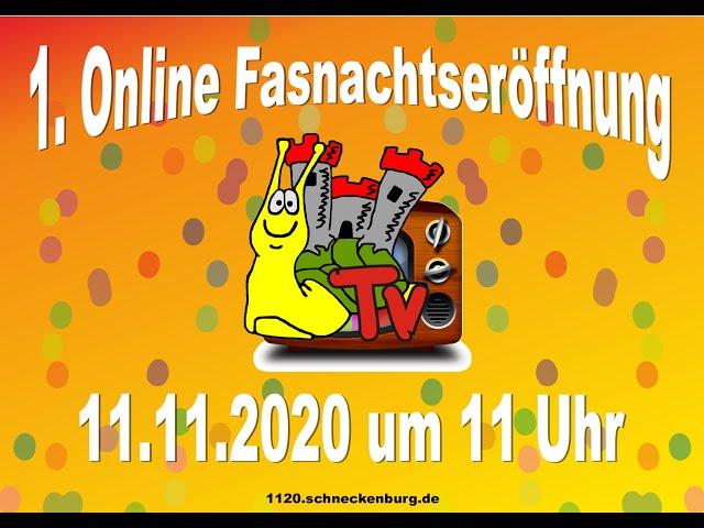 Online Fasnachtseröffnung 2020 des NV Schneckenburg e.V. Konstanz