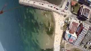 Camera on  kite -  120m above central beach of RAVDA