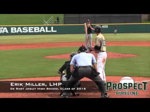 Erik Miller Prospect Video, LHP, De Smet Jesuit High School Class of 2016 TOS 1