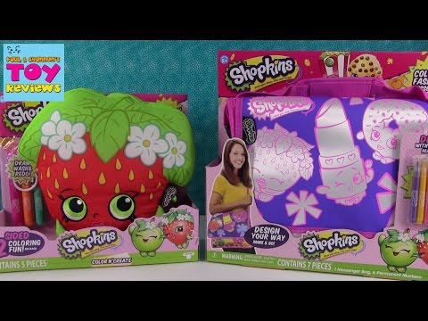 Shopkins Color N Create Fashion Plush Messenger Bag Activities | PSToyReviews