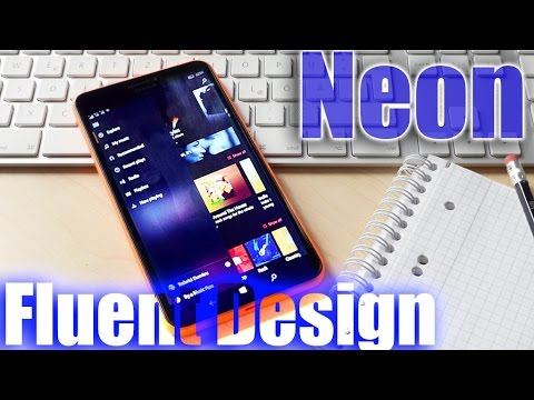 Neon / Fluent Design come to Windows 10 Mobile