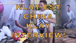 China Klay finally gives us the Klay-est interview we've been waiting for (Beijing, China)