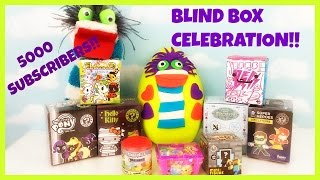 Fizzy Play Doh Surprise Egg 5000 Subscribers Blind Box Celebration! Funko Kidrobot BFFs
