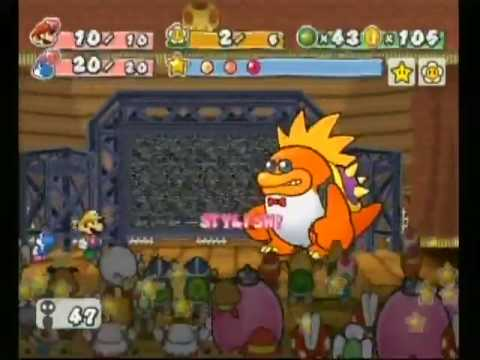 Paper Mario The Thousand Year Door Boss Battle: Macho Grubba