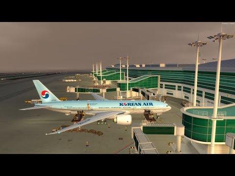 P3D v4 5 PMDG 777 Korean air 1426 RKPC-RKSI on vatsim with low visibility  landing