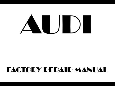 Audi TT Factory Repair Manual 2007 2008 2009 2010 2011