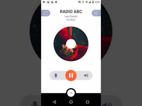 Single Channel Radio Application with Background Play and Audio Record - Buy Android Source Code