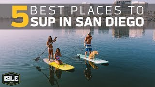 Paddleboarding in San Diego