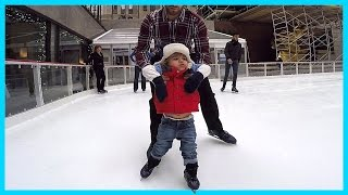 FIRST TIME ON ICE AT ROCKEFELLER RINK IN NEW YORK | DAY 3