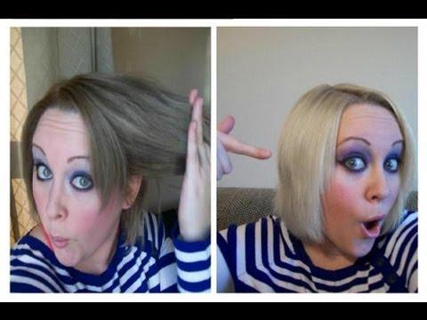 Bleach removing hair color