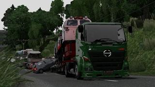 Ets2 - Hino 500 2x4 series trailer lokomotif kereta api indonesia | Padang - Bukit tinggi