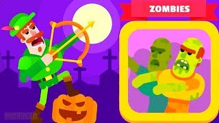 Bowmasters - Gameplay Walkthrough Part 12 - Halloween Update New Zombie Day ( iOS , Android )