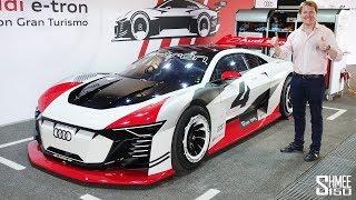 Audi e-tron vision GT - Тест-драйв гоночного электрокара!