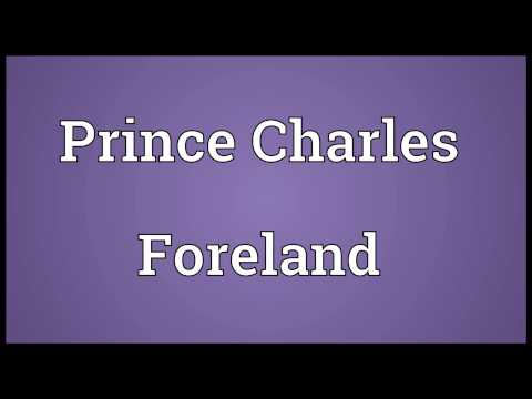 Prince Charles Foreland Meaning