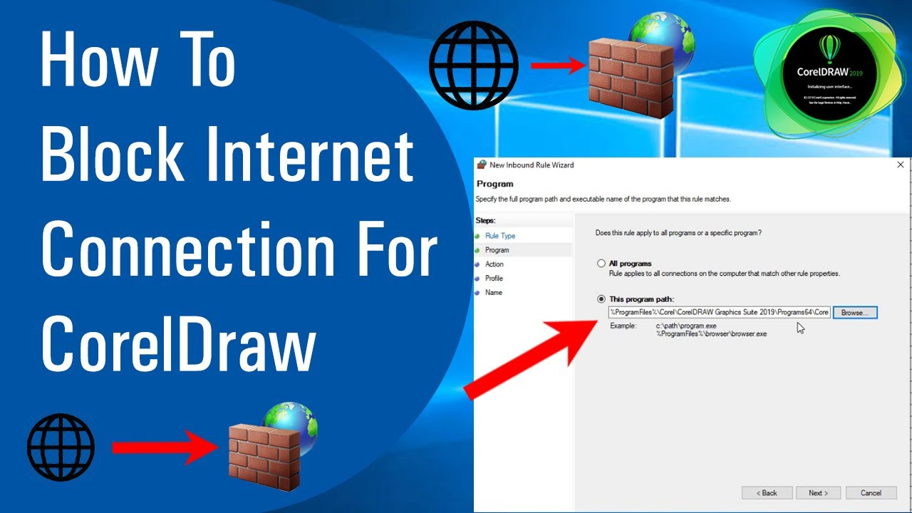 How To Block Internet Connection For Coreldraw Youtube