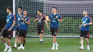 Сборная Испании провела открытую тренировку в Академии ФК «Краснодар»