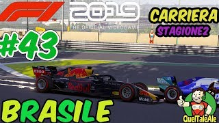 A MUSO DURO | F1 2019 - Gameplay ITA - Carriera #43 - BRASILE